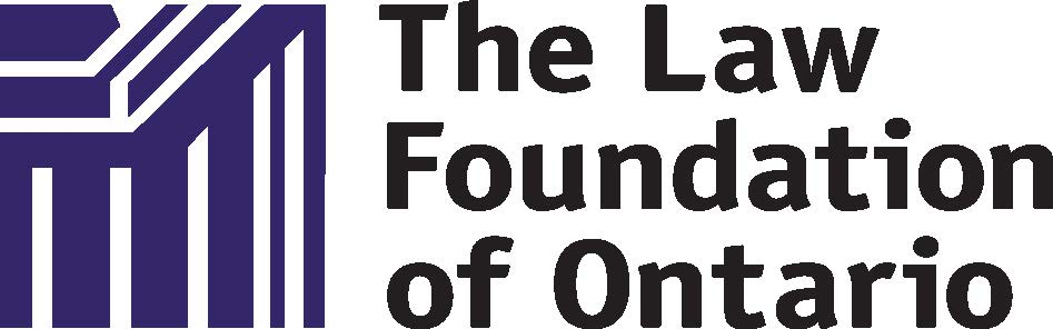 The logo for the Law Foundation of Ontario